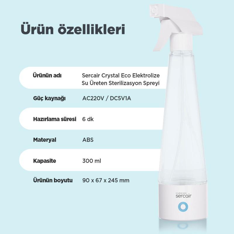 Elektrolize Su Üreten Sterilizasyon Spreyi Crystal Eco